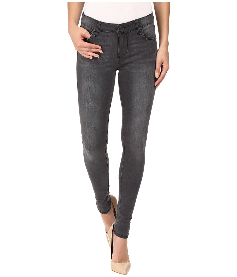 KUT from the Kloth Mia Toothpick Five-Pocket Skinny Jeans in Blessing w/ Grey Base Wash (Blessing/Grey Base Wash) Women