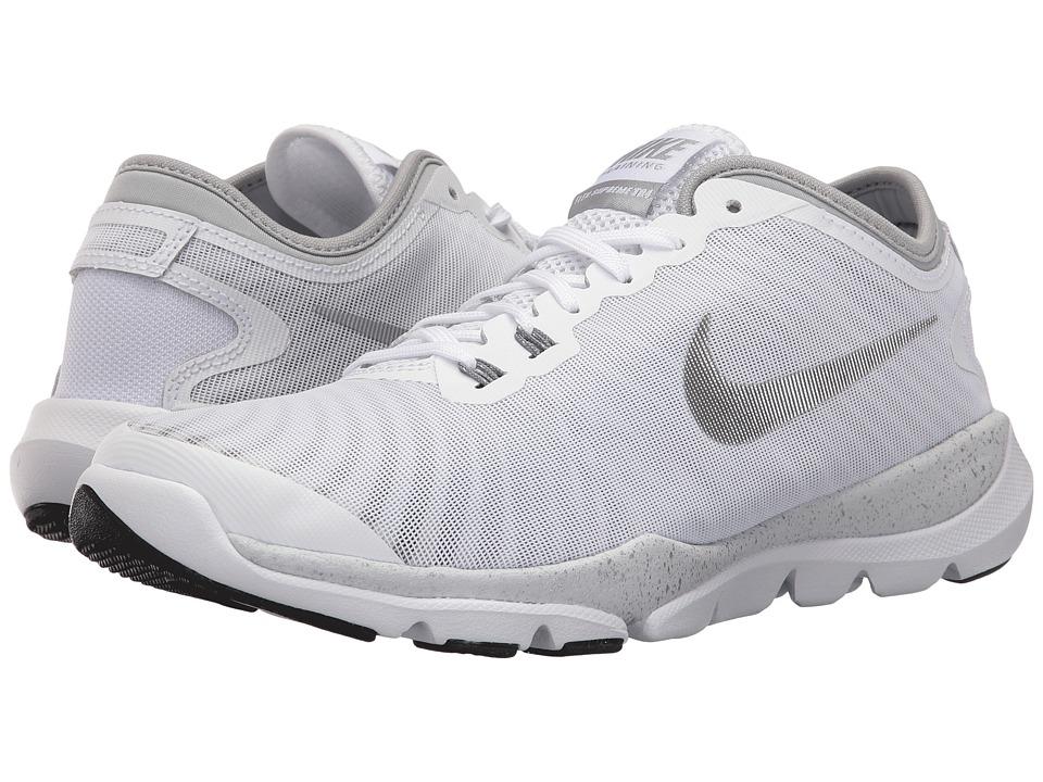 Nike Flex Supreme TR 4 HP (White/Silver Metallic/Black/Dark Grey) Women