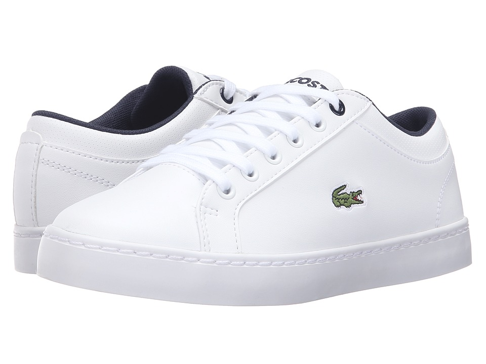 Lacoste Kids Straightset Lace 316 2 SPJ (Little Kid/Big Kid) (White) Kid's Shoes