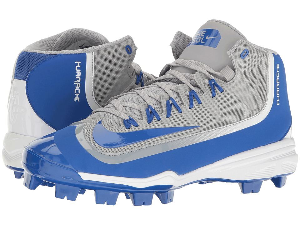 Nike - Huarache 2KFilth Pro (Wolf Grey/Game Royal/White) Mens Cleated Shoes