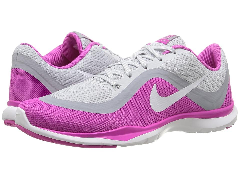 Nike Flex Trainer 6 (Pure Platinum/White/Pink Force/Wolf Grey) Women