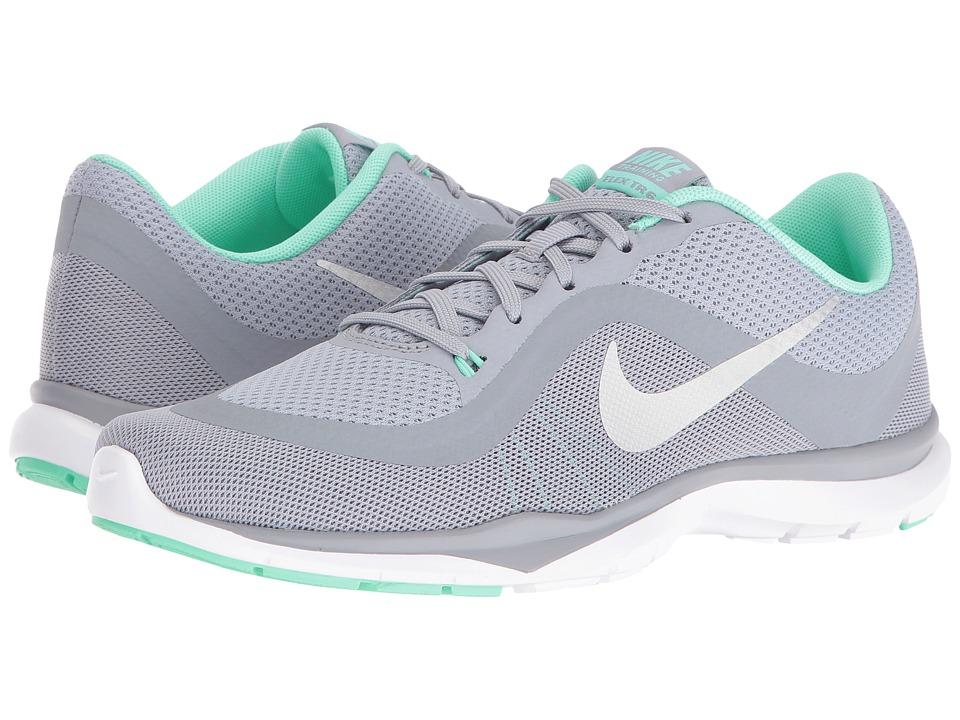 Nike Flex Trainer 6 (Wolf Grey/Metallic Platinum/Green Glow/Stealth) Women