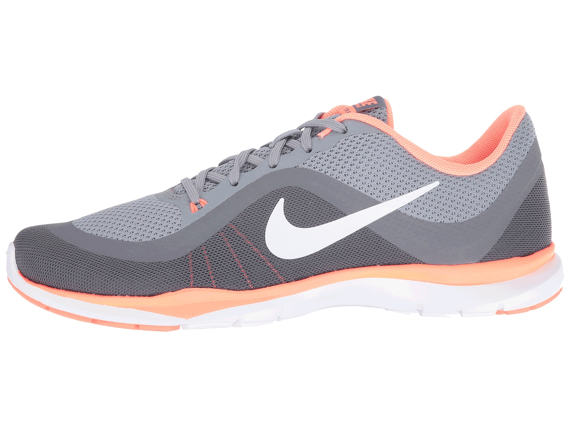 nike flex trainer 6 stealth white bright mango clear grey. Black Bedroom Furniture Sets. Home Design Ideas