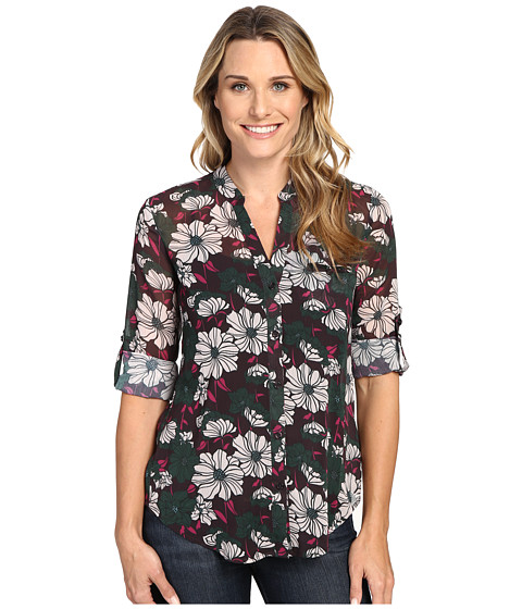 KUT from the Kloth - Jasmine (Eggplant) Women's Long Sleeve Button Up