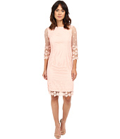 NUE by Shani - Summer Lace Dress with Crochet-Like Florals on Hem