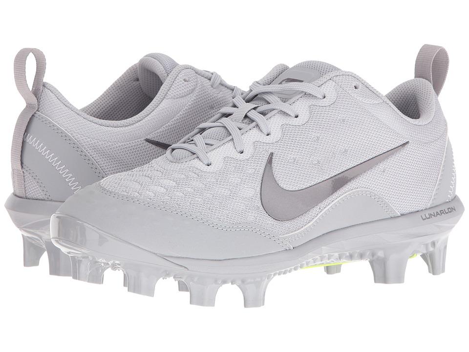 Nike - Hyperdiamond 2 Pro MCS (Wolf Grey/Metallic Dark Grey/Wolf Grey) Women's Cleated Shoes