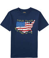 Polo Ralph Lauren Kids - 30/1 Graphic Tee (Big Kids)