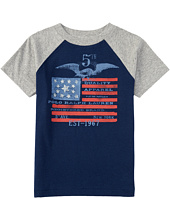 Polo Ralph Lauren Kids - Flag Baseball T-Shirt (Big Kids)