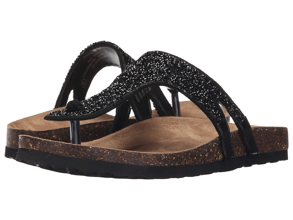 Not Rated Bushey Black Womens Sandals