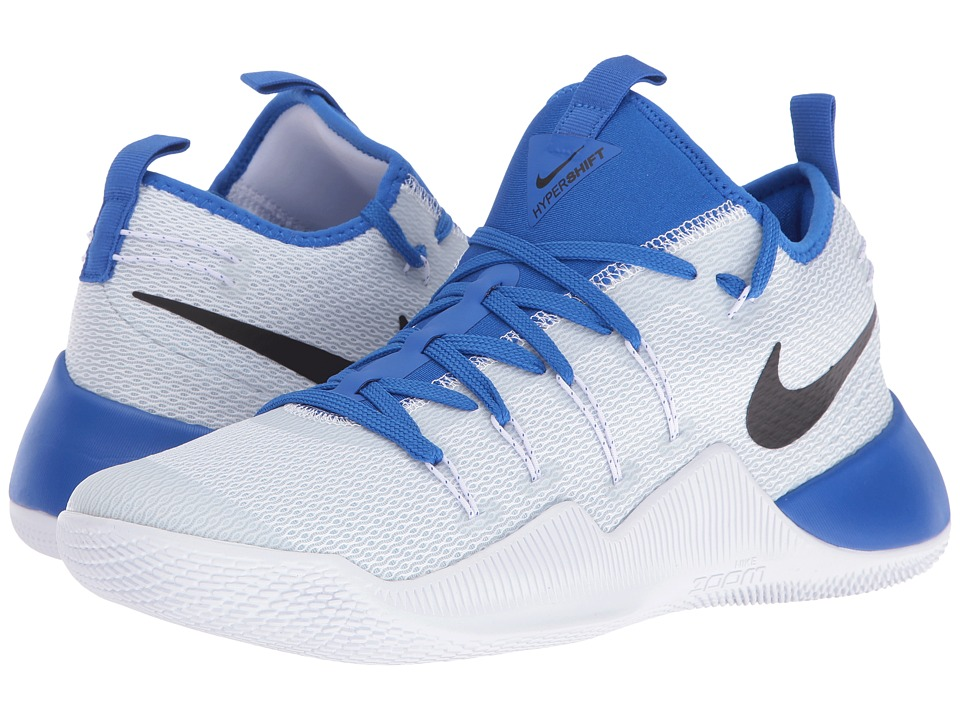 Nike - Hypershift (White/Black/Hyper Cobalt) Mens Basketball Shoes
