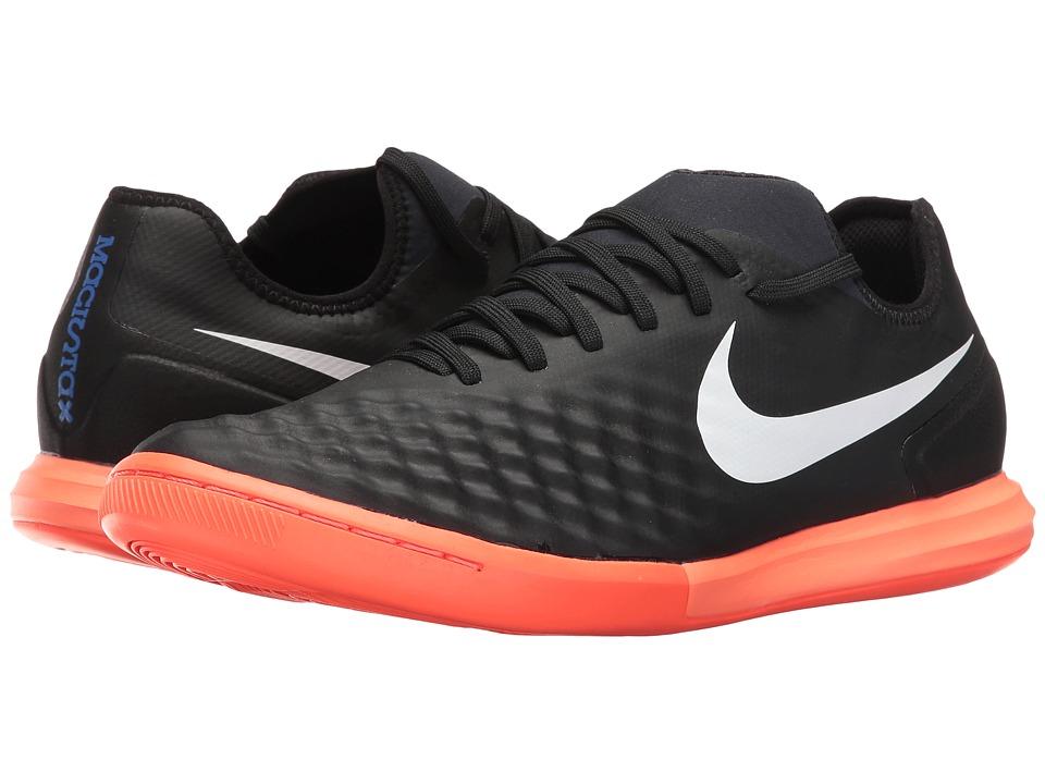 Nike Magistax Finale II IC (Black/White/Hyper Orange/Paramount Blue) Men