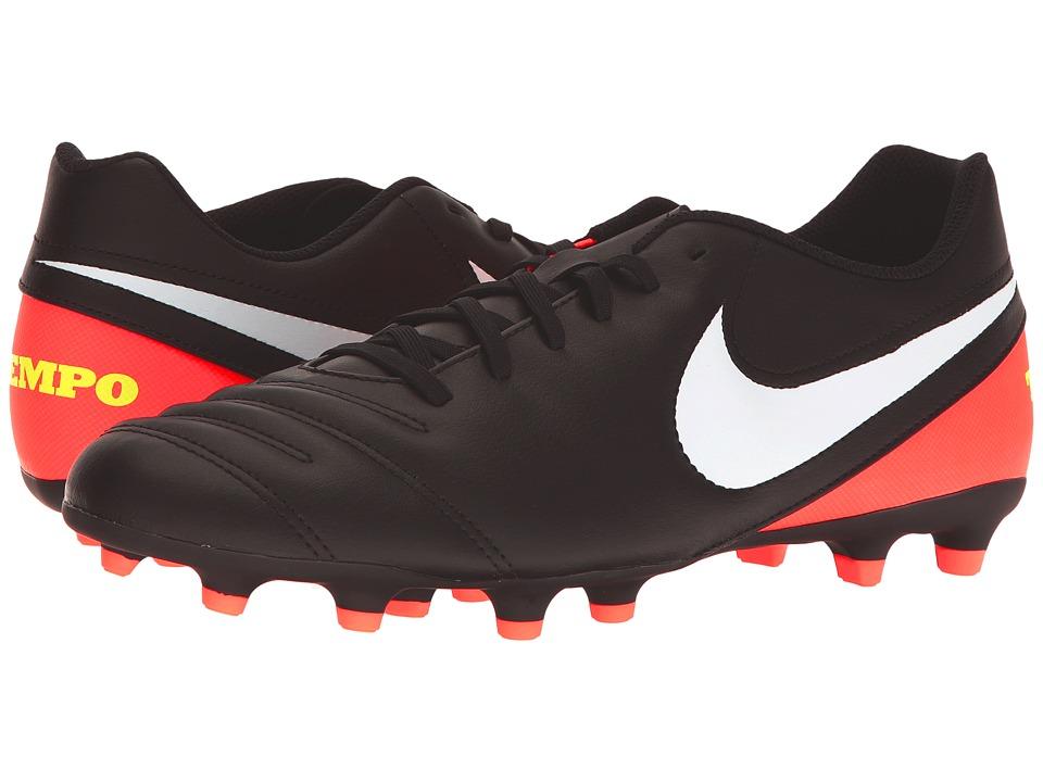 Nike - Tiempo Rio III FG (Black/White/Hyper Orange/Volt) Mens Soccer Shoes