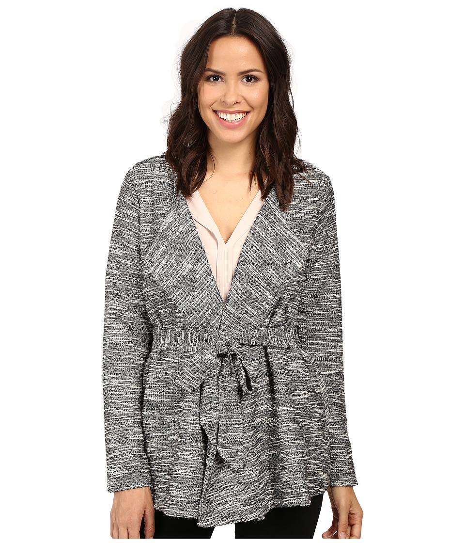 B Collection by Bobeau - Brealyn Lurex Tie Waist Cardigan (Black Mix) Women