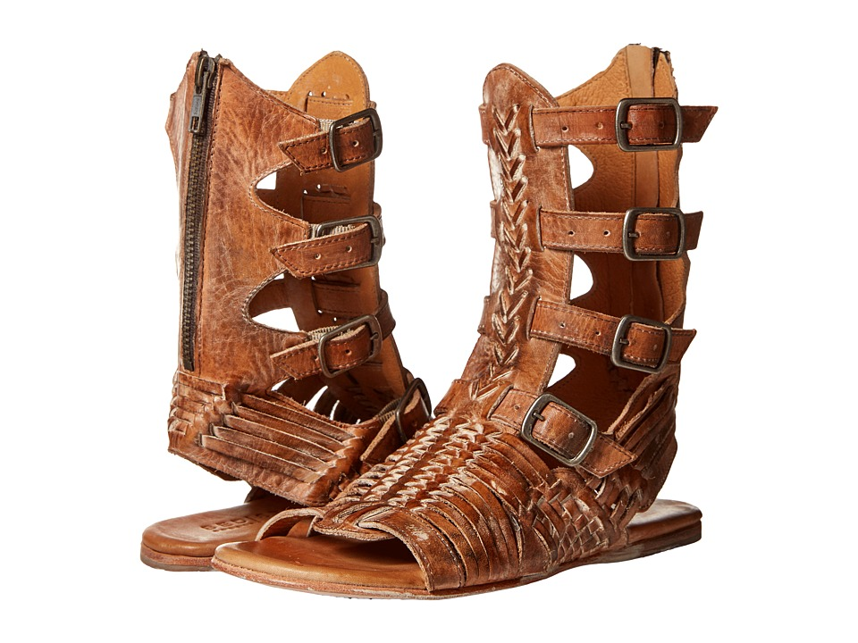 Bed Stu Aurelia Tan Rustic/White Leather Womens Shoes