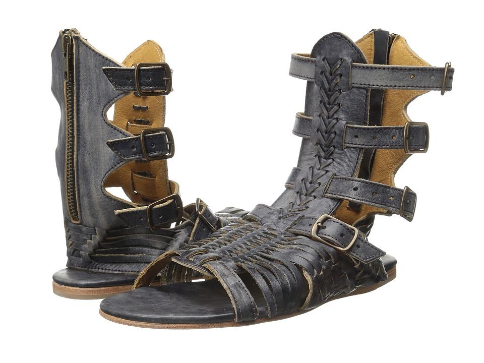 Bed Stu Aurelia Black Driftwood Leather Womens Shoes