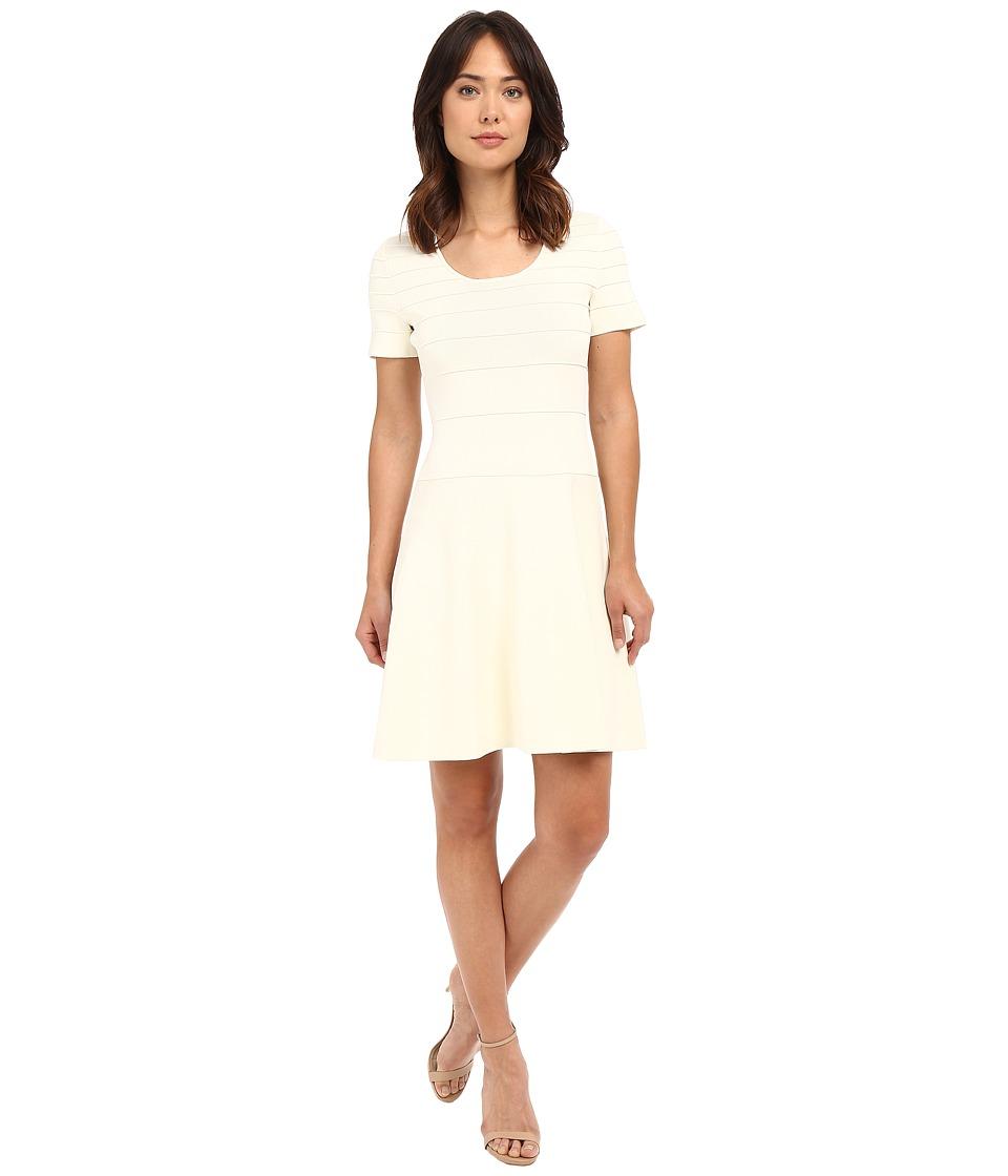 Ellen Tracy Gradated Ottoman Dress Magnolia Womens Dress