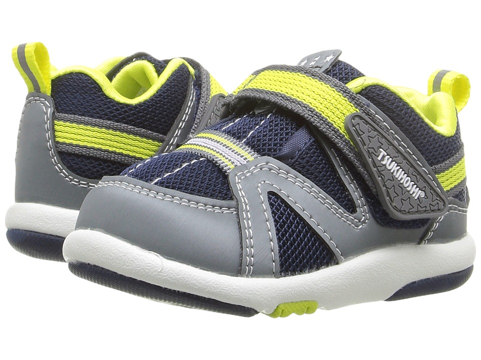 Tsukihoshi Kids - Maru (Toddler) (Gray/Navy) Boys Shoes