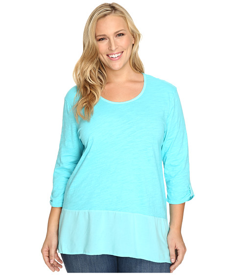 Fresh Produce - Plus Size Windfall Top (Luna Turquoise) Women's Clothing