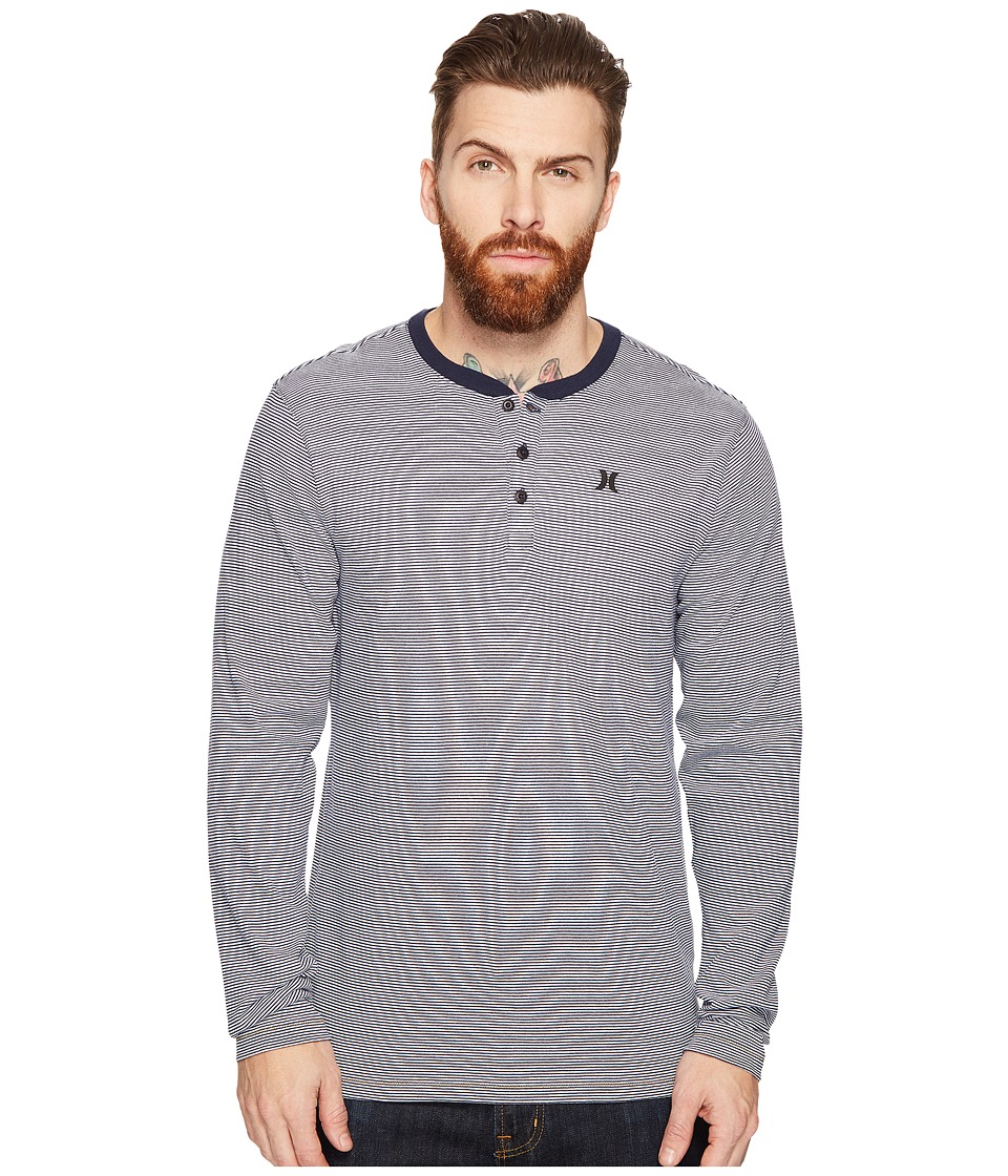 Hurley Lookout Dri-Fit Long Sleeve Henley (Obsidian) Men