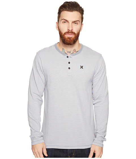 Hurley Lookout Dri-Fit Long Sleeve Henley - Cool Grey