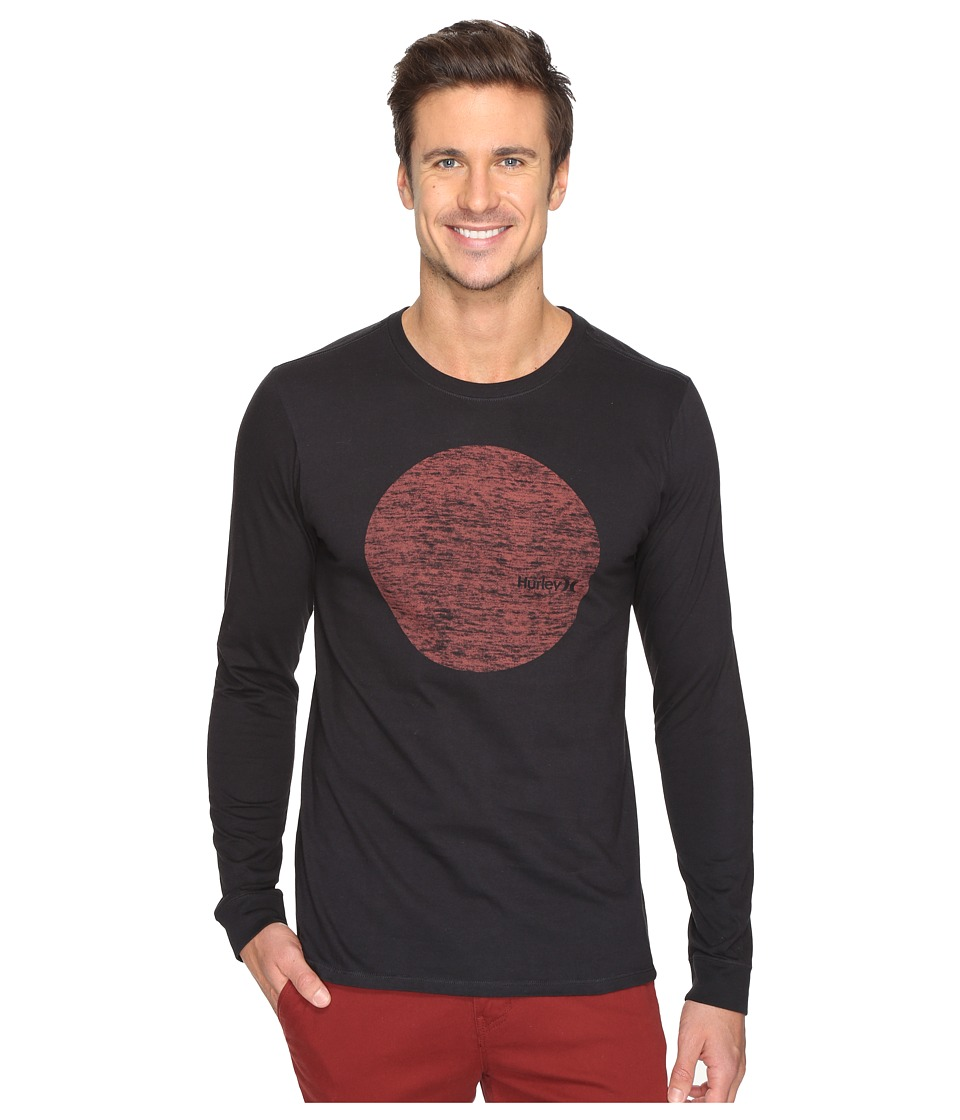 Hurley Circular Long Sleeve Tee (Black) Men