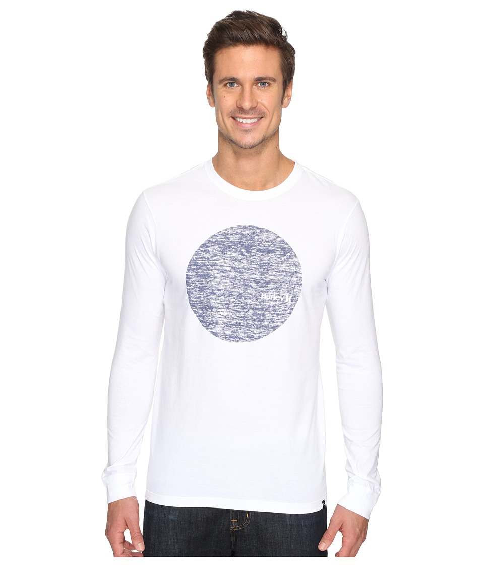 Hurley Circular Long Sleeve Tee (White) Men