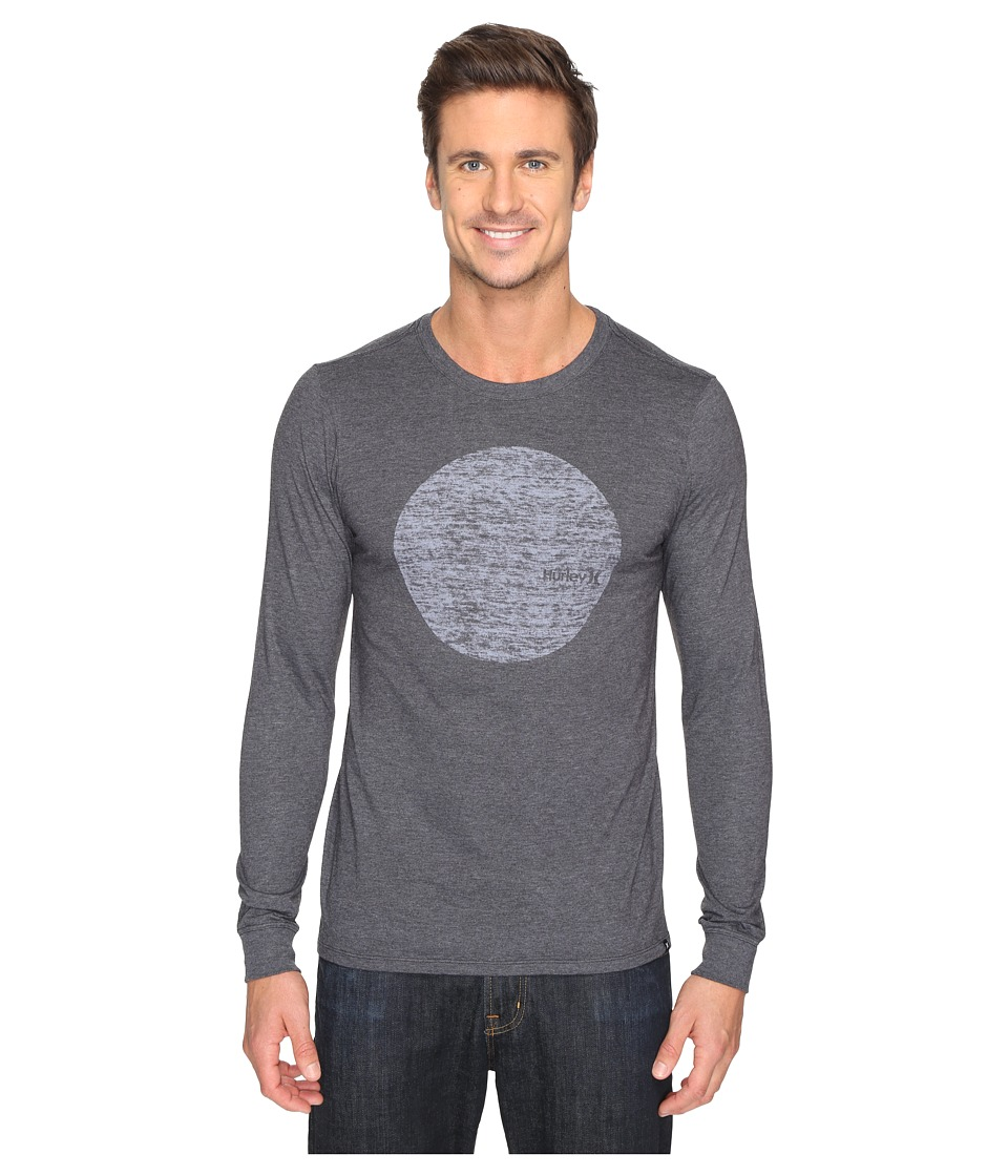 Hurley Circular Long Sleeve Tee (Heather Black) Men