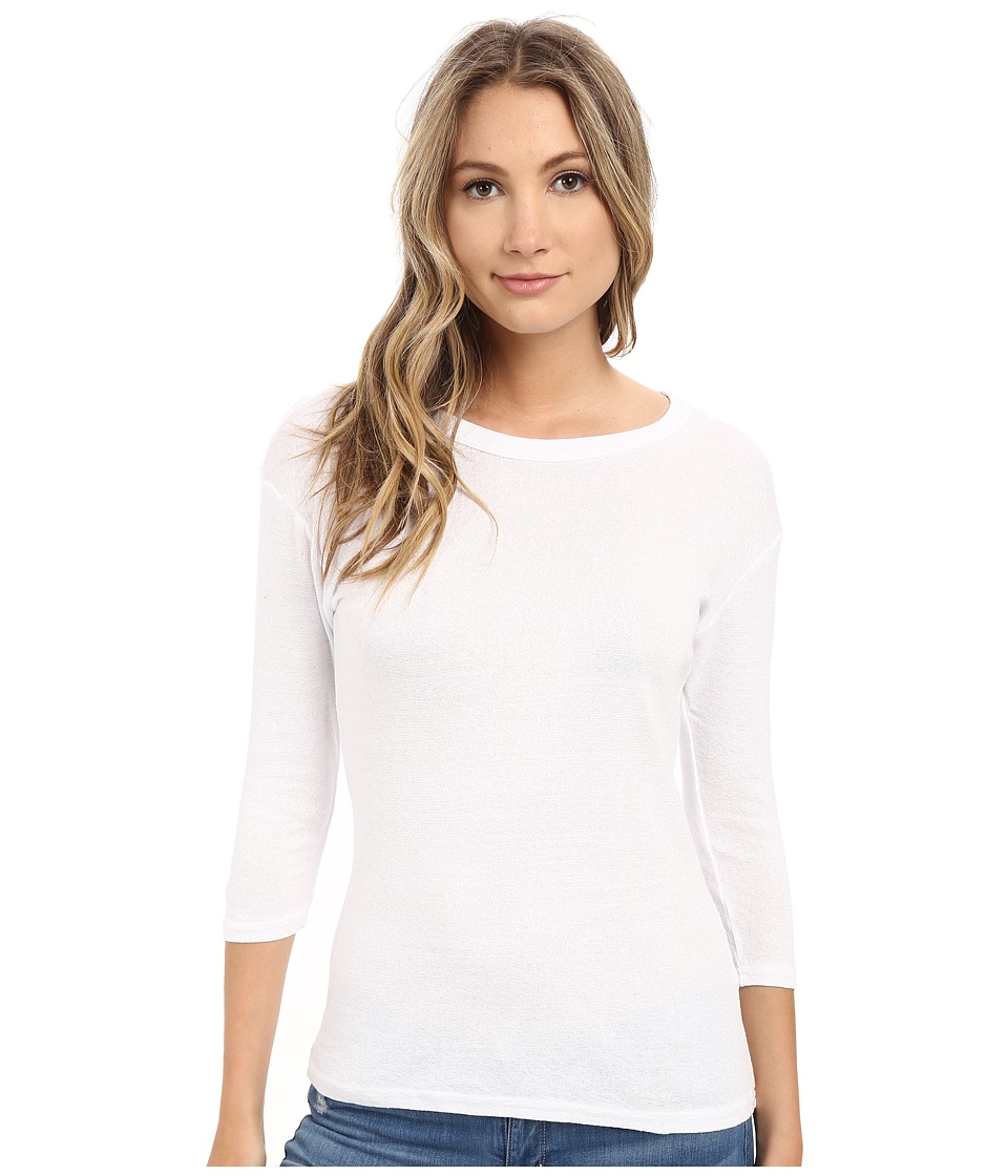 Michael Stars Shine Crew Neck Shirt (White) Women