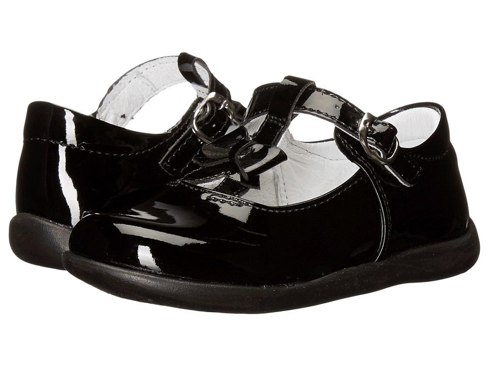 Kid Express Ciel (Toddler/Little Kid) (Black Patent) Girl's Shoes