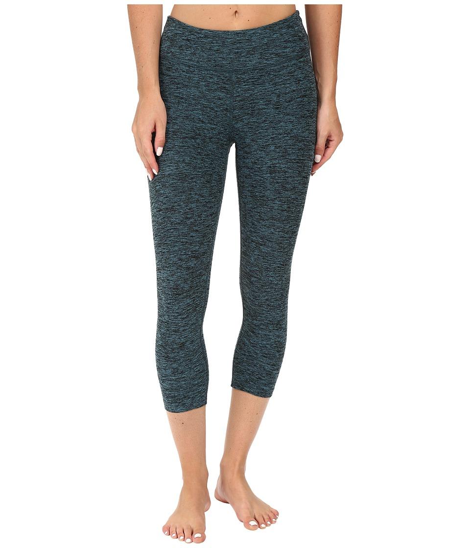 Image of Beyond Yoga - Capri Leggings (Black/Teal Spacedye) Women's Capri