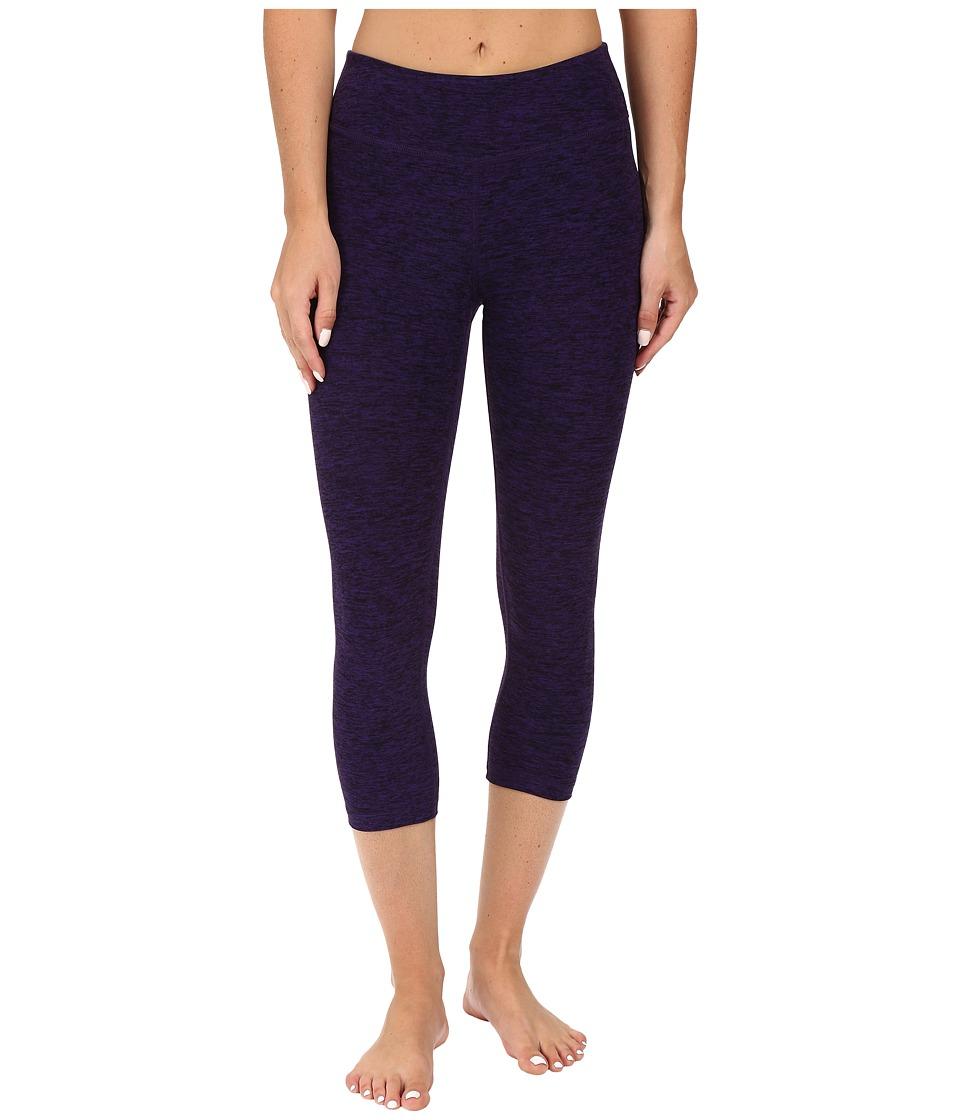 Image of Beyond Yoga - Capri Leggings (Black/Deep Iris Spacedye) Women's Capri