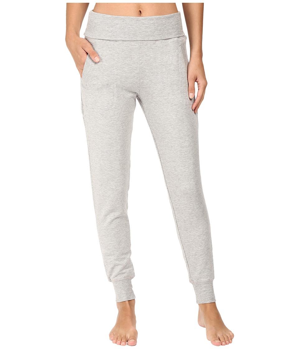 Beyond Yoga Fleece Fold-Over Sweatpants (Heather Gray) Wo...