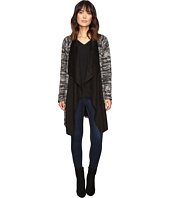B Collection by Bobeau - Dries Textured Jacket w/ Faux Suede Neckline