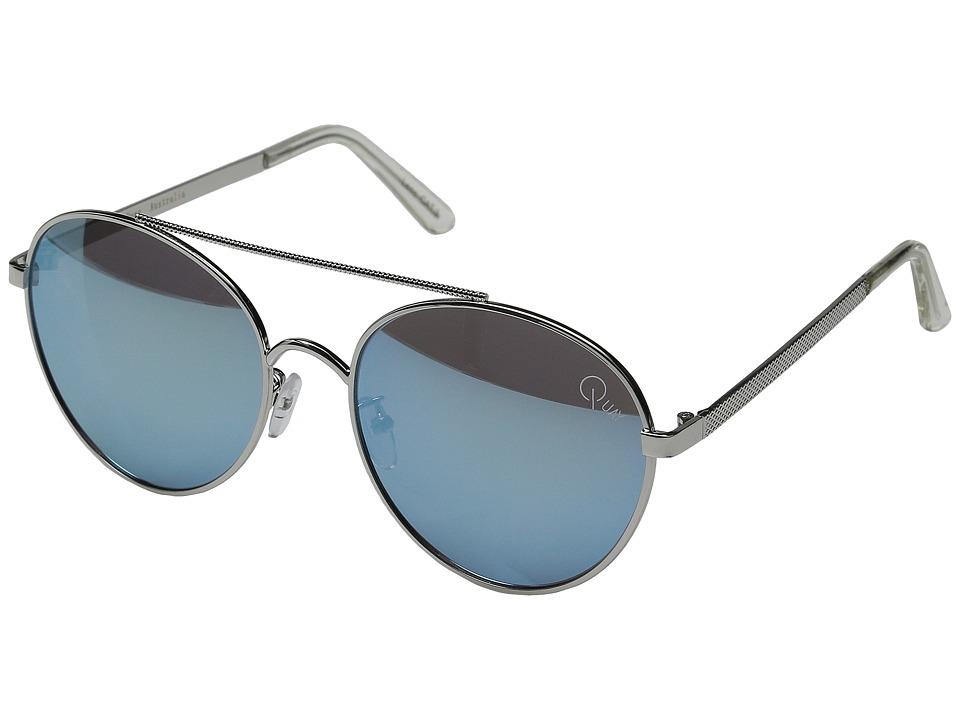 QUAY AUSTRALIA Circus Life Silver/Blue Mirror Fashion Sunglasses