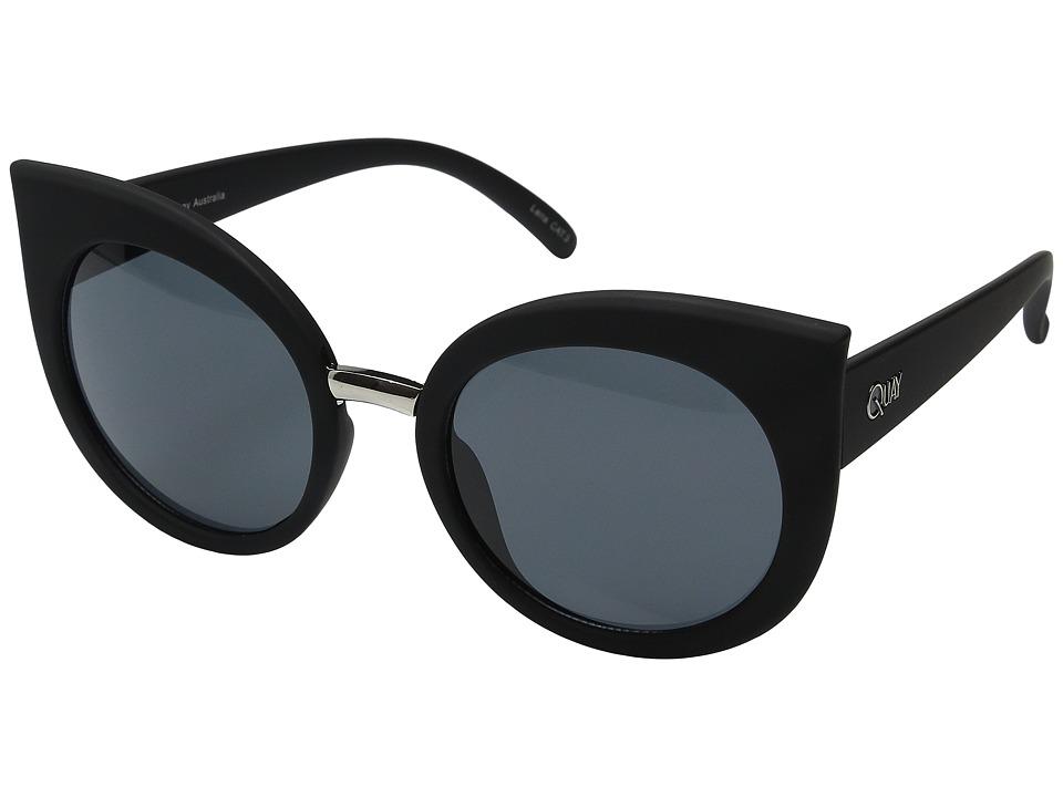 QUAY AUSTRALIA Dream Of Me Black/Smoke Lens Fashion Sunglasses