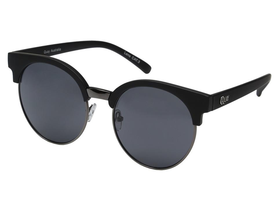QUAY AUSTRALIA Highly Strung Black/Smoke Lens Fashion Sunglasses