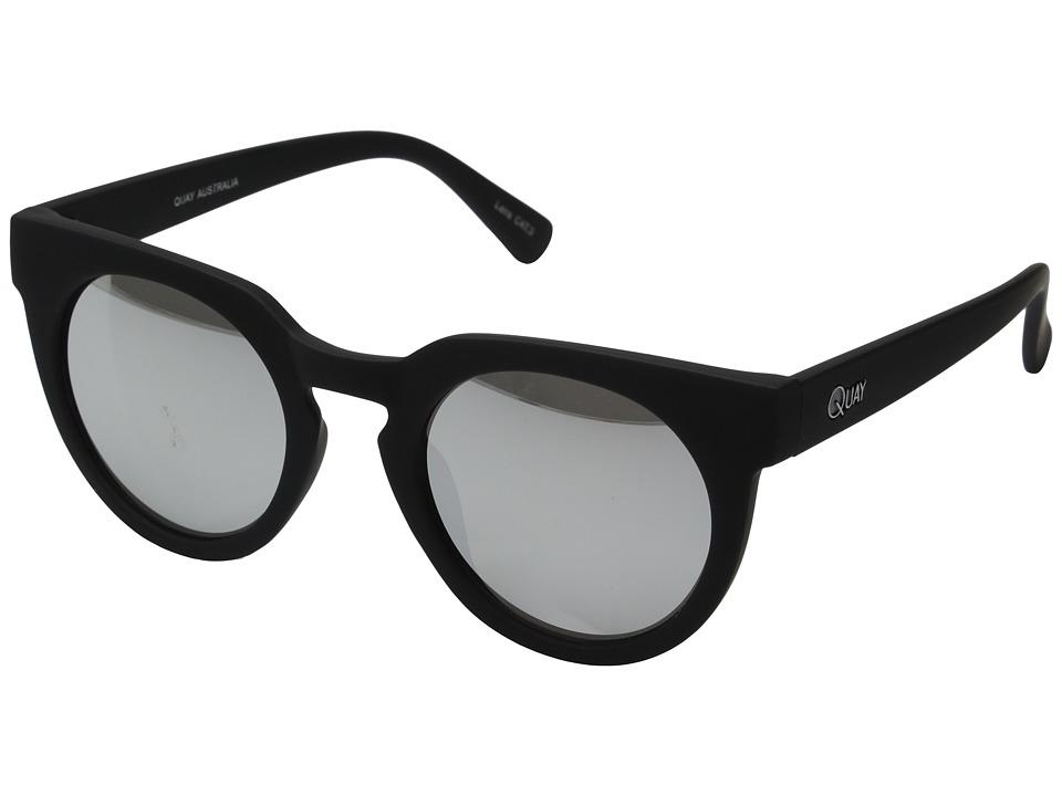 QUAY AUSTRALIA Class Of 89 Black/Silver Mirror Fashion Sunglasses