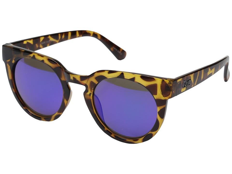 QUAY AUSTRALIA Class Of 89 Tort/Green Mirror Fashion Sunglasses