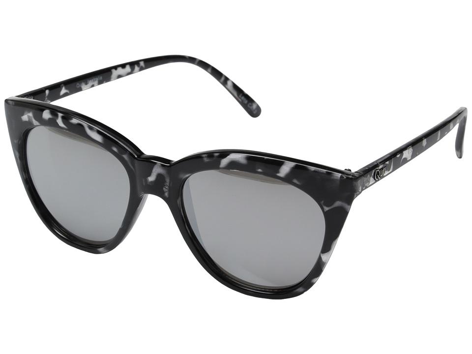 QUAY AUSTRALIA Isabell Black Tort/Silver Mirror Fashion Sunglasses