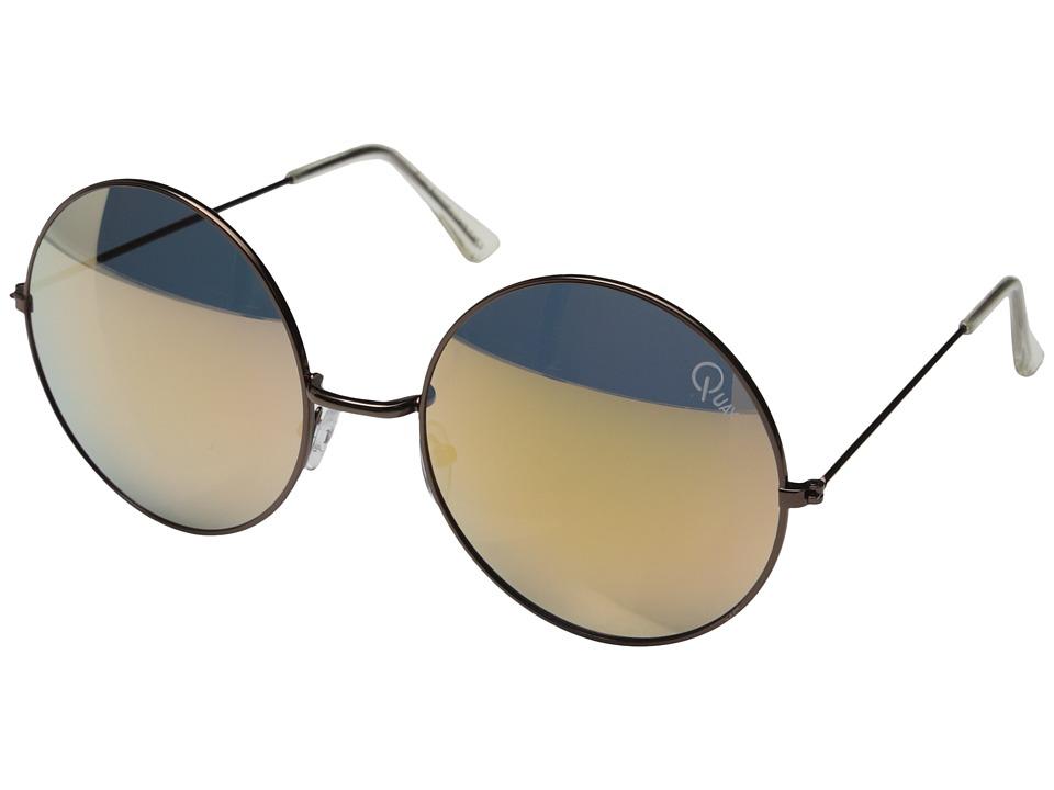 QUAY AUSTRALIA Dynasty Copper/Gold Mirror Fashion Sunglasses