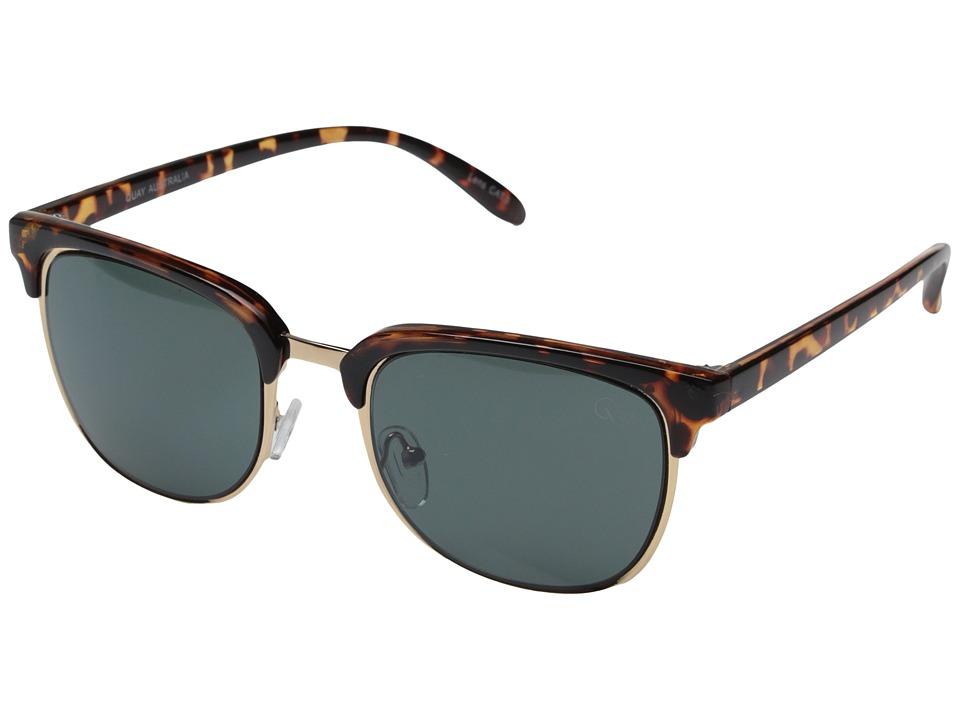 QUAY AUSTRALIA Flint Tort/Green Lens Fashion Sunglasses