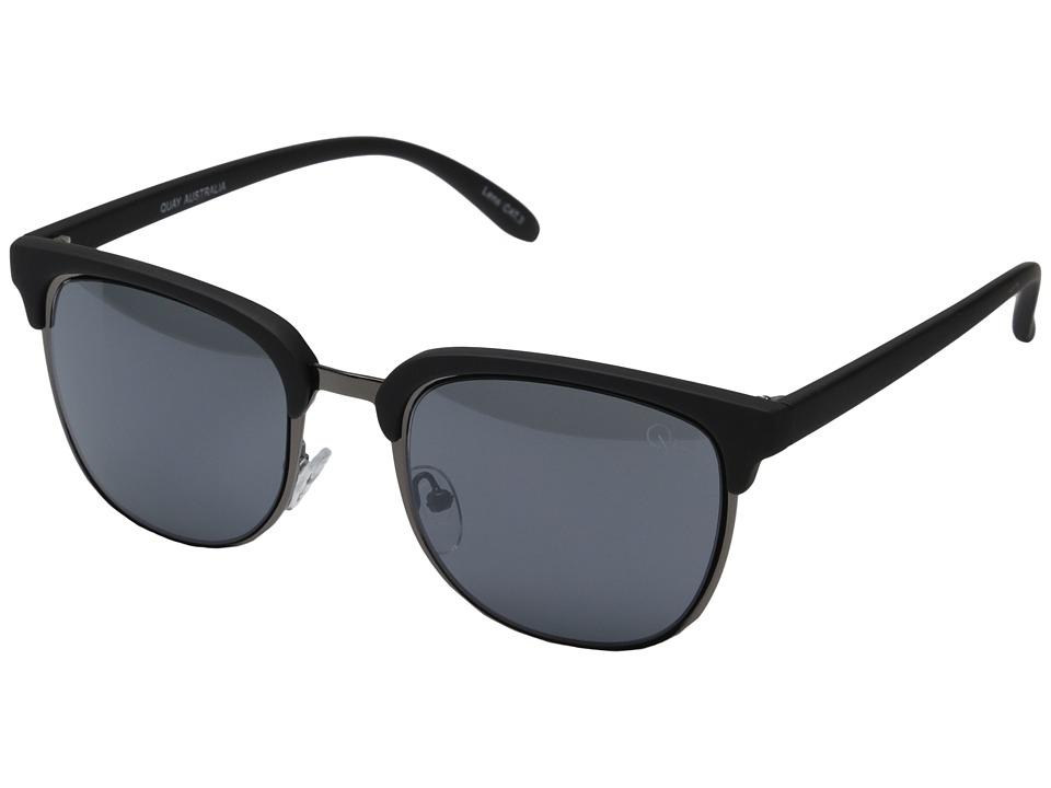 QUAY AUSTRALIA Flint Black/Smoke Lens Fashion Sunglasses