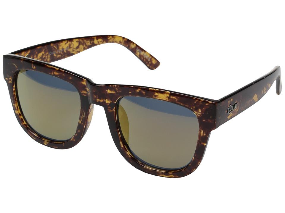 QUAY AUSTRALIA Maximus Tort/Gold Mirror Fashion Sunglasses