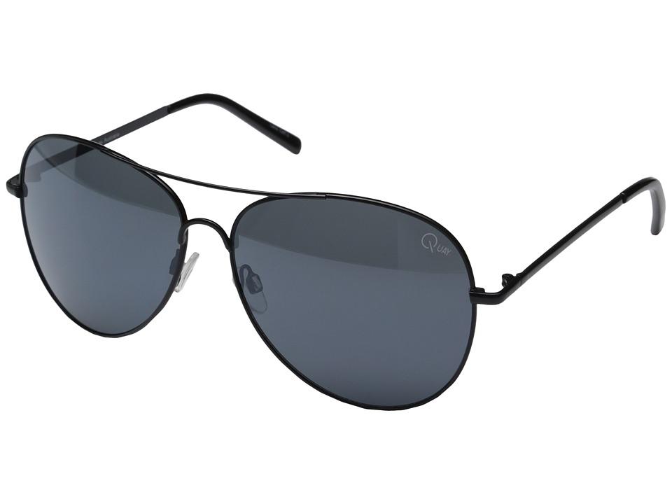 QUAY AUSTRALIA Flag Ship Black/Smoke Lens Fashion Sunglasses