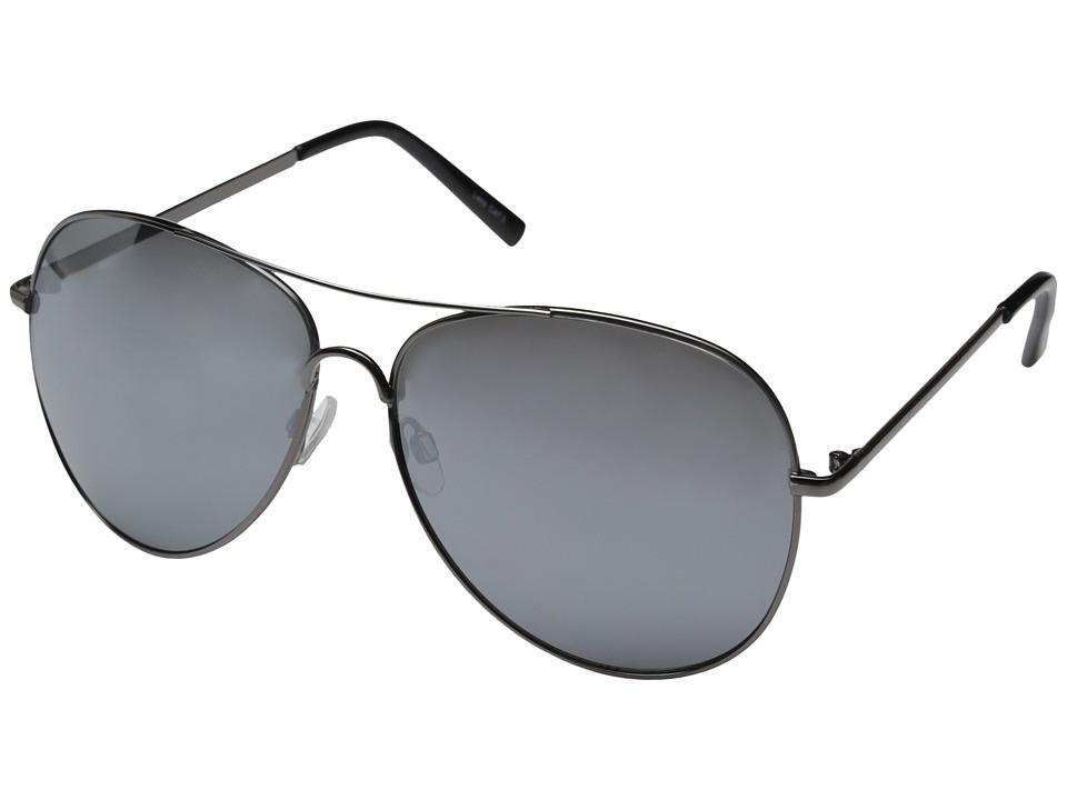 QUAY AUSTRALIA Flag Ship Gunmetal/Silver Mirror Fashion Sunglasses