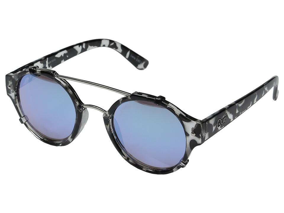 QUAY AUSTRALIA - Its A Sin (Black Tort/Blue Mirror) Fashion Sunglasses