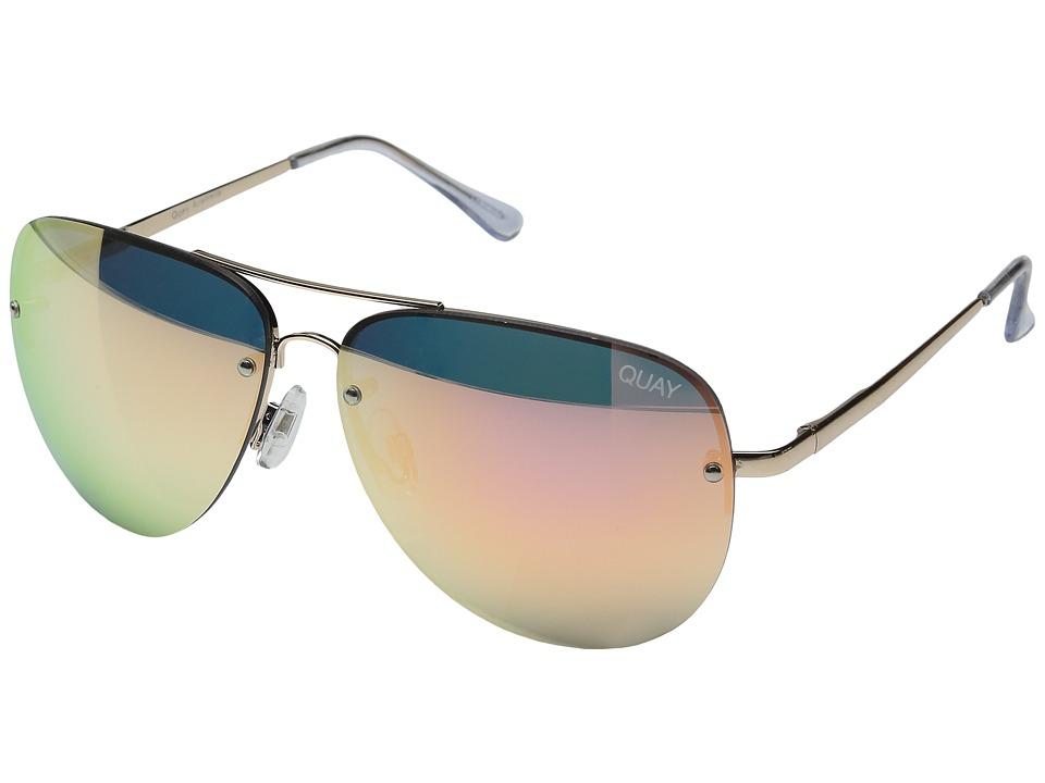 QUAY AUSTRALIA Muse (Gold/Pink Mirror) Fashion Sunglasses