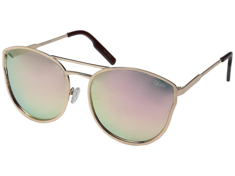 QUAY AUSTRALIA - Cherry Bomb (Rose Gold/Pink Mirror) Fashion Sunglasses