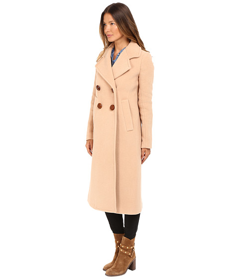 See by Chloe Wool Button Closure Coat Soft Camel