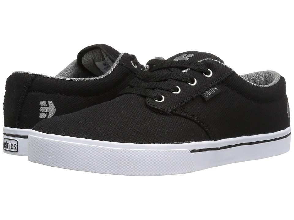 etnies - Jameson 2 Eco (Black/Grey/Silver) Mens Skate Shoes